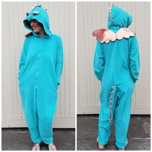 Xhilaration   turquoise dragon onesie